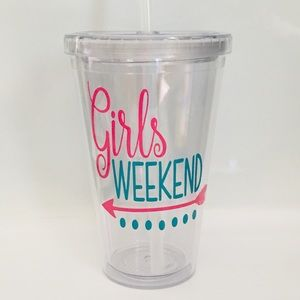 Girls Weekend Plastic Insulated Tumbler